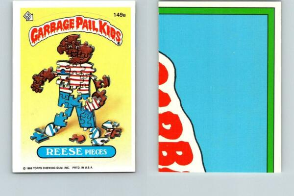 1986 SERIES 4 TOPPS GPK GARBAGE PAIL KIDS 149a REESE PIECES