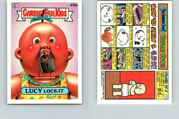 1987 SERIES 11 TOPPS GPK GARBAGE PAIL KIDS 418a LUCY LOCK-IT