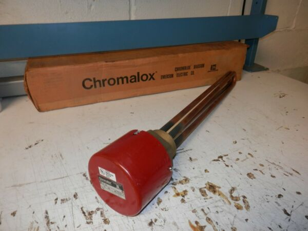 NEW CHROMALOX MT 250A IMMERSION HEATER 240V 1PH 5KW $293.39