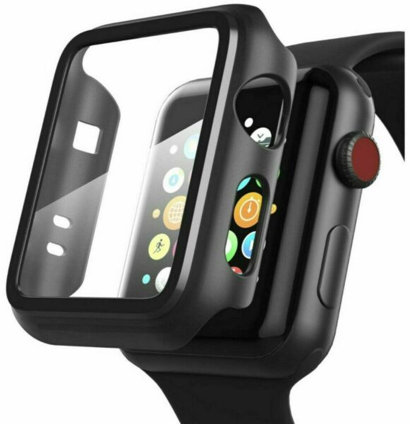iWatch Apple Watch Series 5 4  Hybrid Protective Case Full Cover With Screen US