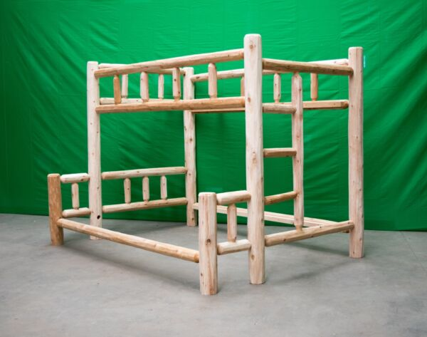 Premium Log Bunk Bed - Twin Over Queen $699 - Free Shipping