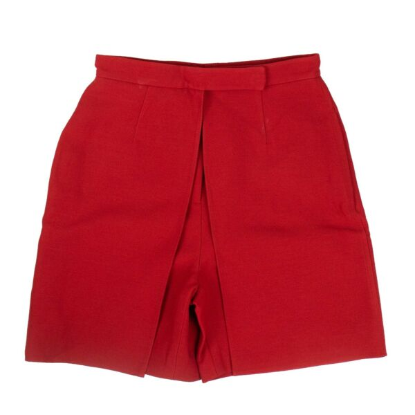NWT VALENTINO Red Wool Blend Tailored Skort Skirt Size 238 $1895