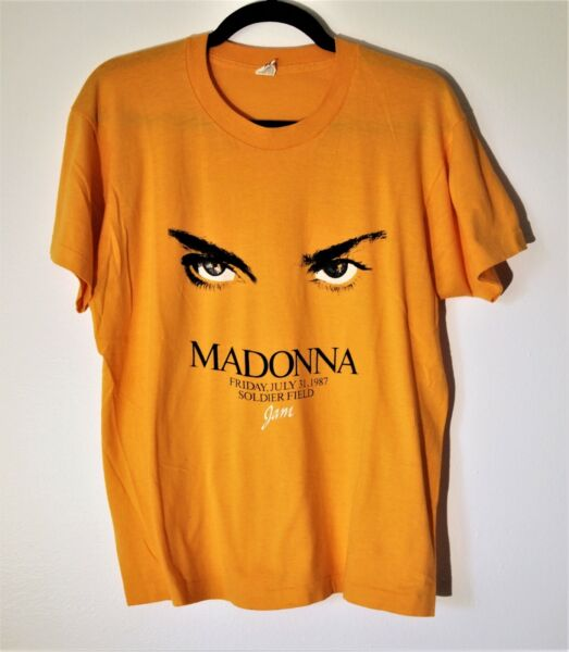 MADONNA VINTAGE SCREEN STARS WHO#x27;S THAT GIRL TOUR T SHIRT 1987 CHICAGO SHOWRARE