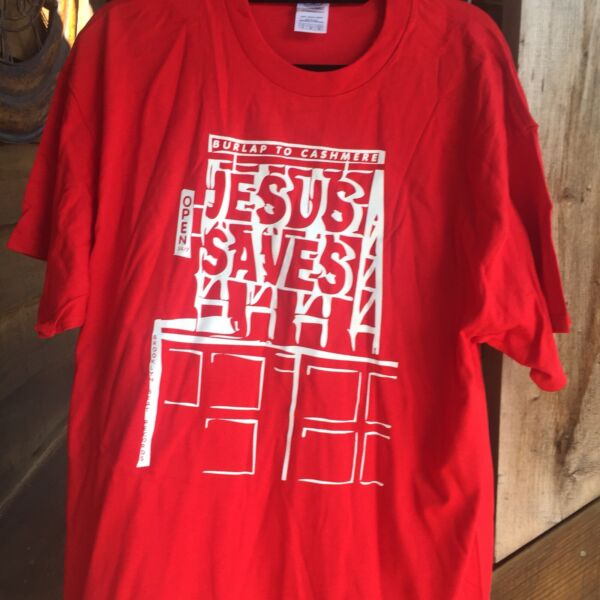 BURLAP TO CASHMERE BAND CONCERT RED T SHIRT XL BROOKLYN NY COOL