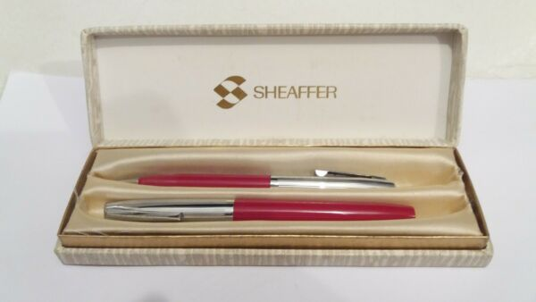 SHEAFFER PEN SET FOUNTAIN NIB AND pencil IN BOX