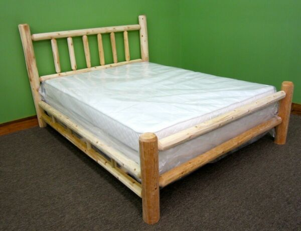 Premium Rustic Log Bed- King- $359 - Double Log Side Rail & Slat Supports Incl!