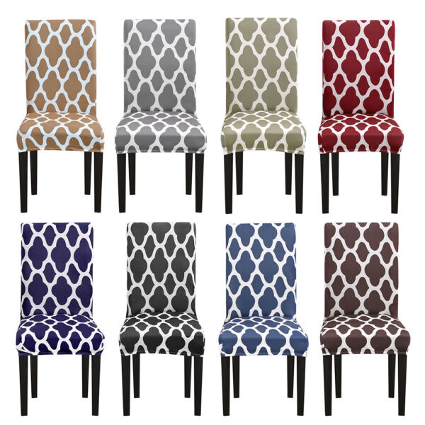 1 4 6Pc Spandex Stretch Chair Seat Covers Slipcovers Dining Room Wedding Banquet $17.99