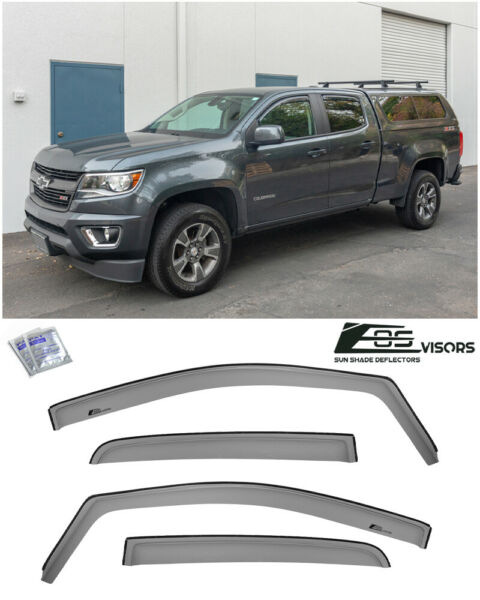 EOS Visors For 15-Up Chevy Colorado Crew Cab IN-CHANNEL Side Window Rain Guards