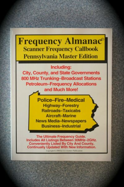 FREQUENCY ALMANAC PENNA MASTER EDITION - 1994- SCANNER FREQ. CALLBOOK - NEW