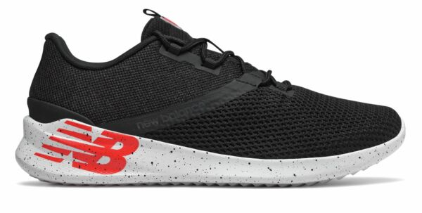 New Balance Men's District Run Shoes Black with Red