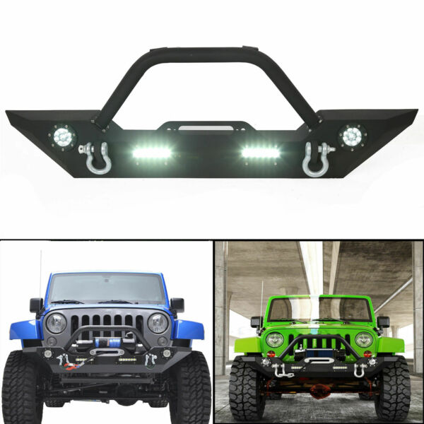 Front Bumper with Built in LED Lights and For Jeep Wrangler 07 18 JK Unlimited $172.20