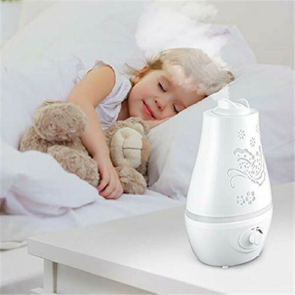 2.2L Home Ultrasonic Air Humidifier Cool Mist Quiet Diffuser with 3 colors LED