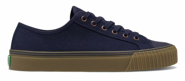 PF Flyers Center Lo Unisex Shoes Navy with Tan Size