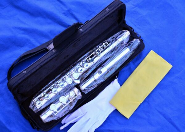 New Silver-Plated C Flute Closed Hole -Great for School Band Student Fast Ship*