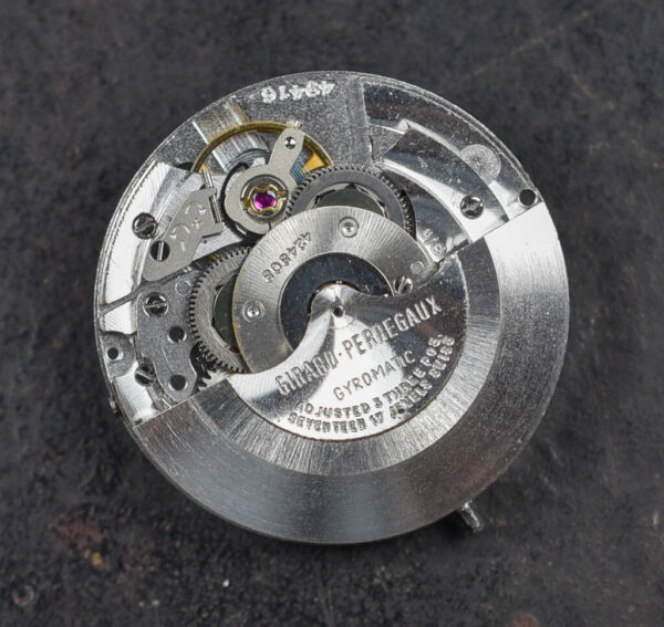 Vintage GIRARD PERREGUAX 36000 Bh Automatic Watch Movement High Frequency