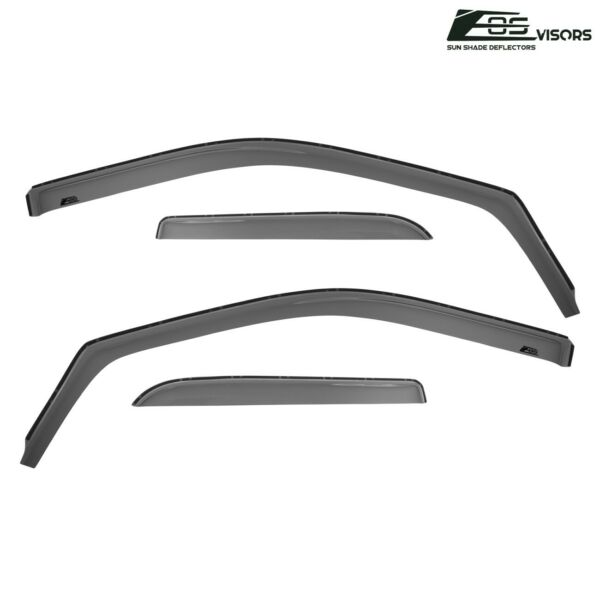 For 09-18 Ram 1500 2500 3500 Quad Cab IN-CHANNEL Side Window Visors Rain Guards