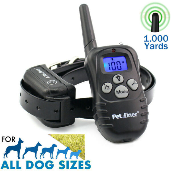 Electric Dog Shock Training E Collar PetRemote Control Trainer Waterproof 1000FT $30.99