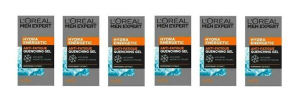 L'Oreal Men Expert Hydra Energetic Anti-Fatigue Quenching Gel 50ml (6 Pack)