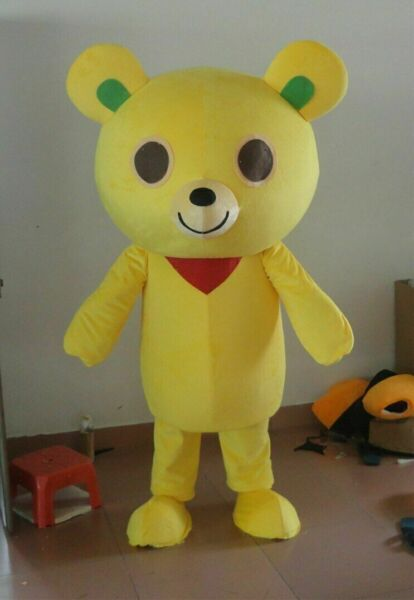 Yellow Bear Mascot Costume Suits Cosplay Party Outfits Carnival Christmas Adults