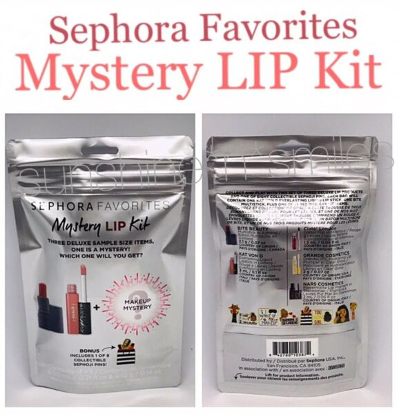 Sephora Favorites BITE Kat Von D + MYSTERY LIP + SEPHOJI Pin GIFT SET *sealed*
