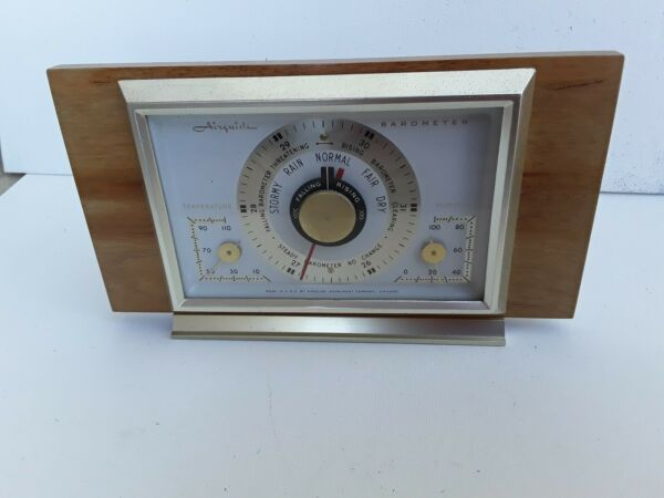 DECO AIRGUIDE INSTRUMENTS BAROMETER WEATHER STATION MID-CENTURY TEMP. HYDROMETER