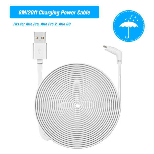 2 9m Charging Power Cable Cord For Arlo Pro 2 Arlo GO Camera In Outdoor E9I7