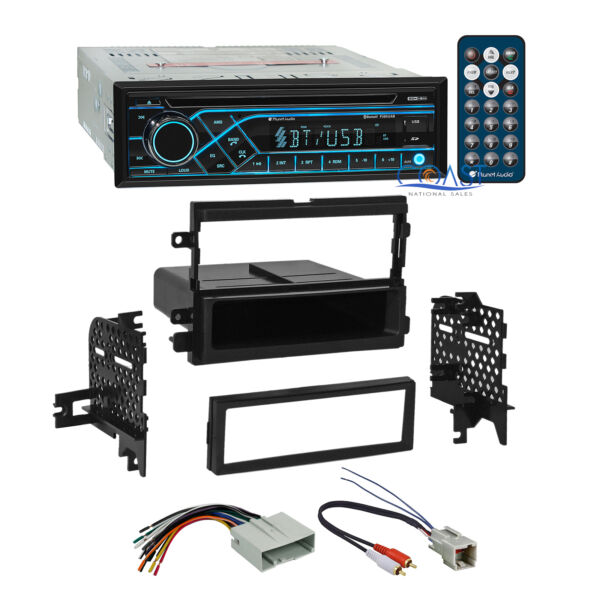 Planet Audio Bluetooth USB Stereo Dash Kit Amp Harness for Ford Lincoln Mercury