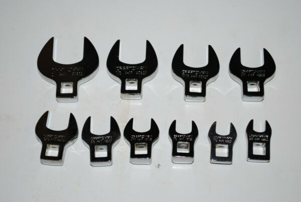 Craftsman 10 PC 3 8quot; Drive Inch Crowfoot Wrench Set