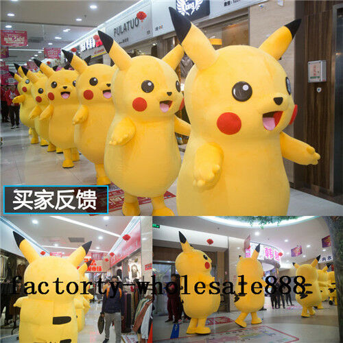 High Qualility Yellow Mascot Costume Suits Party Fashion Go Cosplay Game Dress $156.61