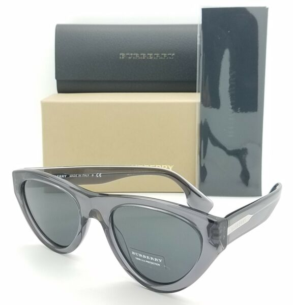 NEW Burberry Sunglasses BE4285 379787 52mm Translucent Grey AUTHENTIC Fashion $136.95