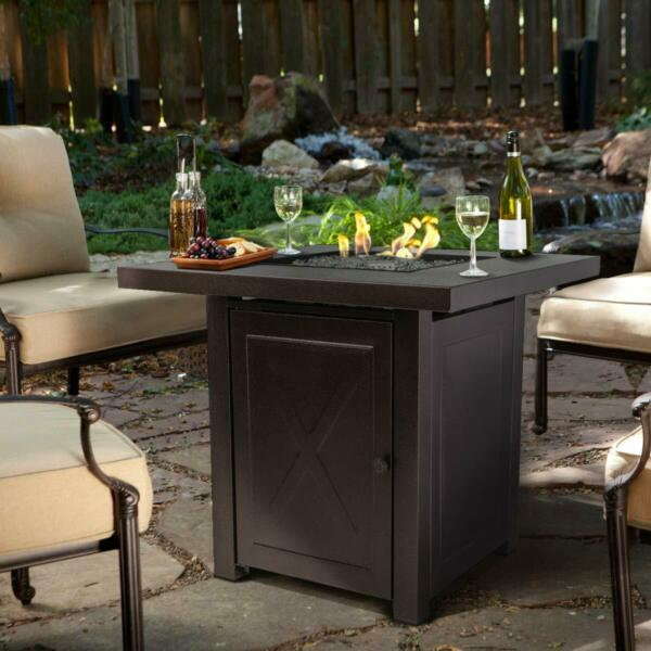 Outdoor Firepit Table Furniture Patio Deck Backyard Heater Fireplace Ignition