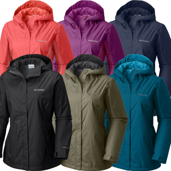 New Womens Columbia quot;Arcadiaquot; Omni Tech Waterproof Rain Wind Jacket