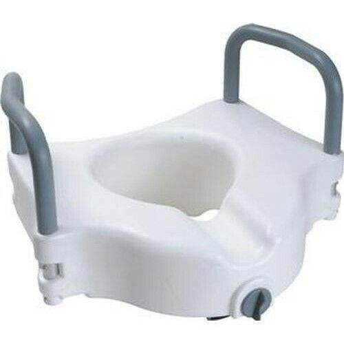 Cardinal Health Raised Toilet Seat w Arms and Lock Rises 5#x27;#x27; 1 Count $28.54