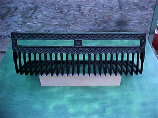 Antique Cast Iron Arts&Crafts Fireplace Insert Firebox Hanging Coal BasketGrate