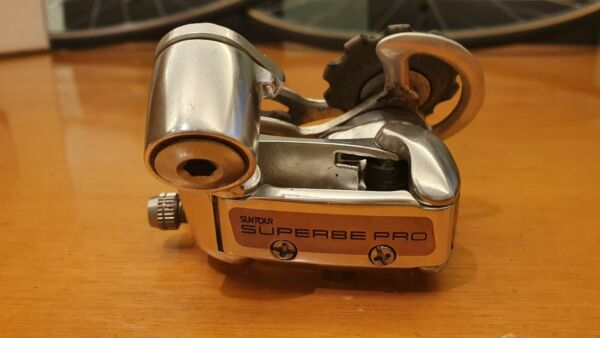 NOS SUNTOUR SUPERBE PRO 8 sp. rear derailleur vintage road bike NEW