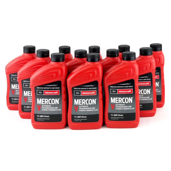 Motorcraft Mercon V Transmission Fluid XT 5 QMC Case 12 Quarts Ford Vehicles