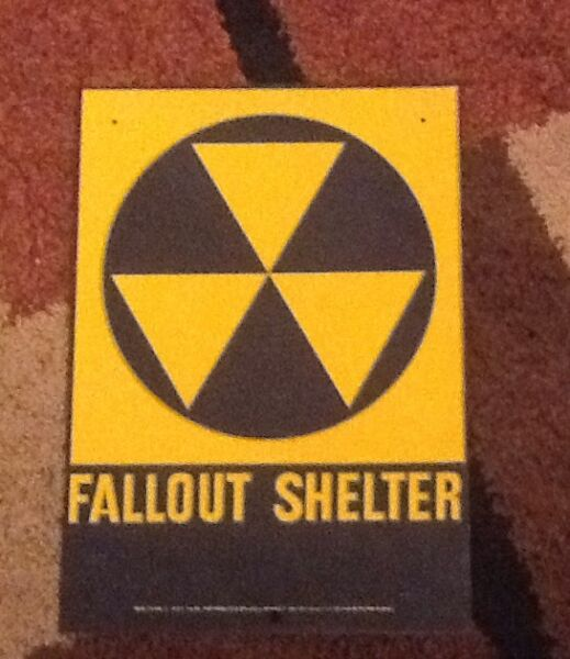 Fallout shelter sign original 1960's. 10 X 14.