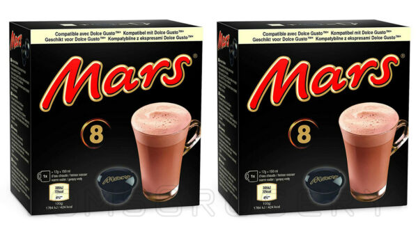 2 x MARS Chocolate Drink Nescafe Dolce Gusto Machine Compatible Capsules