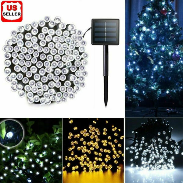 100 LED Solar String Fairy Cool Light Garden Christmas Outdoor Party Decoration