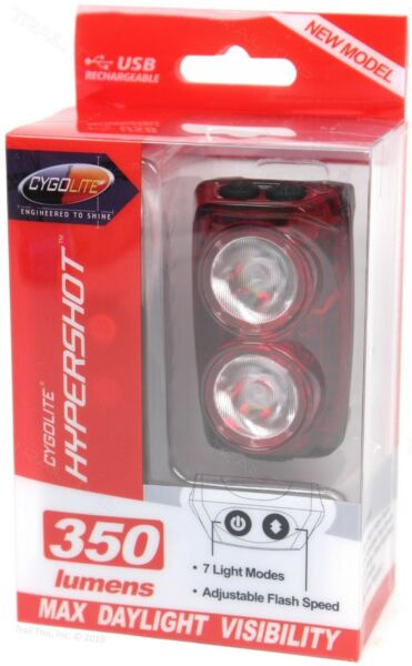 CygoLite Hypershot 350 Lumens LED Bicycle Rear Tail Light USB Rechargeable $59.95