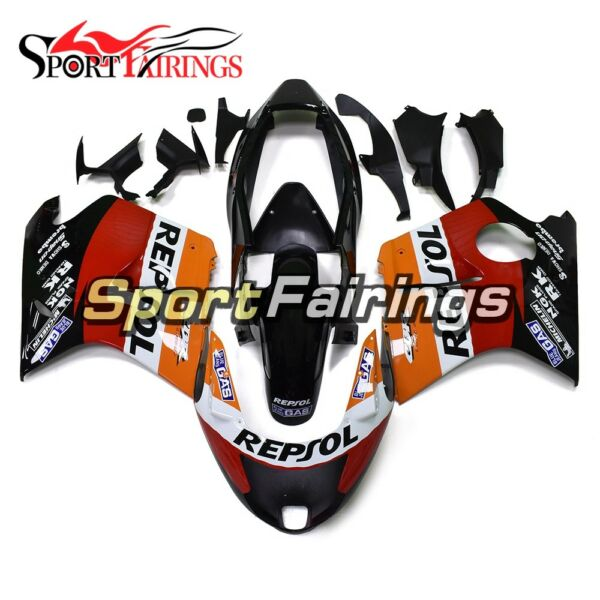 For Honda CBR1100XX 1997 98 99 00 01 02 03 04 05 06 07 Repsol Red Orange Fairing