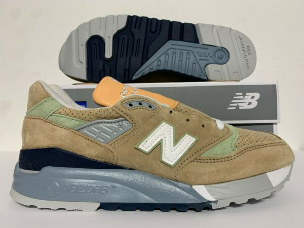 New Balance 998 Classics Running Shoes Made in USA Tan Pig Suede SZ ( M998XAA )