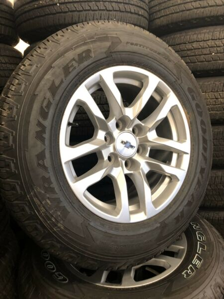 "Chevrolet Silverado 1500 Takeoff Set Of 4 18"" Goodyear Tires 2019 TPMS Lugs"
