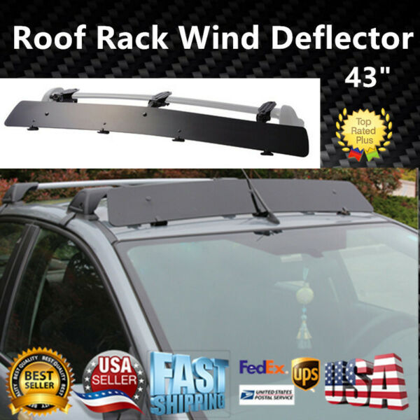 Universally Fit Rooftop 43quot; Roof Rack CrossBar Wind Fairing Air Deflector Kit $55.99