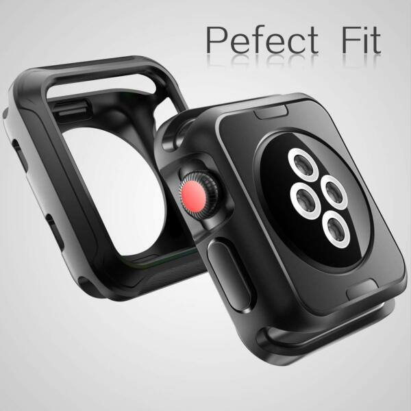 Case 42mm For Apple Watch Series 3 2 1 Nike+ Sport Edition Black Shock-proof