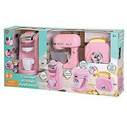 Play Perfect Kitchen Appliance Trio Playset PINK!! Brand New