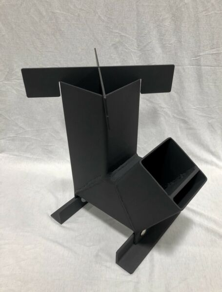 """4"""" Gravity Fed Rocket Stove 13"""" Tall Travel Size FREE SHIPPING!!! Survival Stove"""