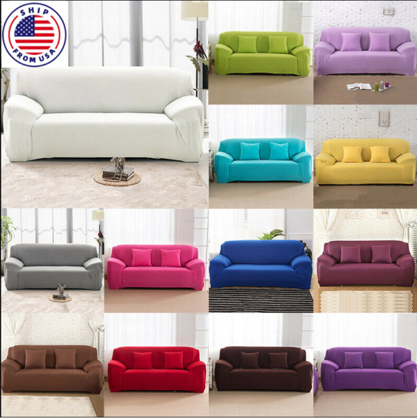 1 2 3 4 Seater Stretch Chair Sofa Cover Slipcover Couch Loose Covers Elastic $26.99