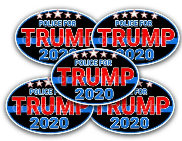 POLICE for TRUMP STICKERS 2020 Trump Political Bumper Stickers Decals 5quot; 5 pack $4.99
