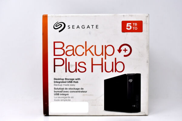 Seagate 5TB Backup Plus Hub External Storage Desktop Hard Drive USB 3.0